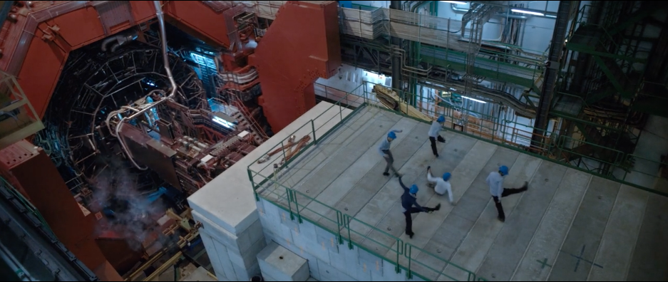 A still from the video for Symmetry, filmed at the Large Hadron Collider. (Photo: Courtesy Arts@CERN)