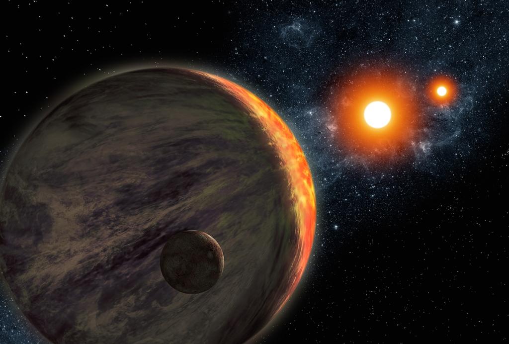 Ron Miller's depiction of Kepler-16b. (Photo: Ron Miller)