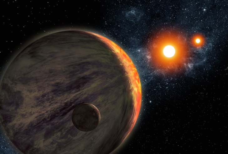 Ron Miller's depiction of Kepler-16b. (Photo: Ron Miller)