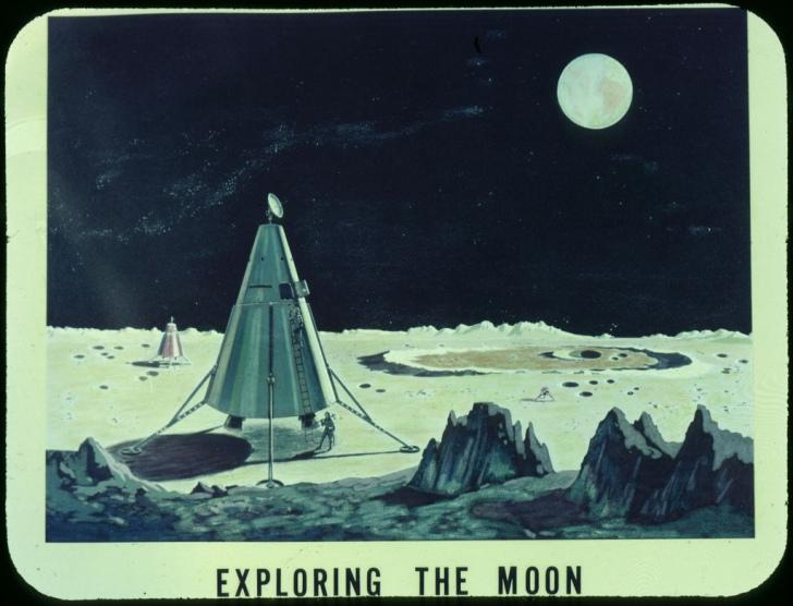 Concept image of a moon landing from 1959. (Photo: NASA/Public Domain)