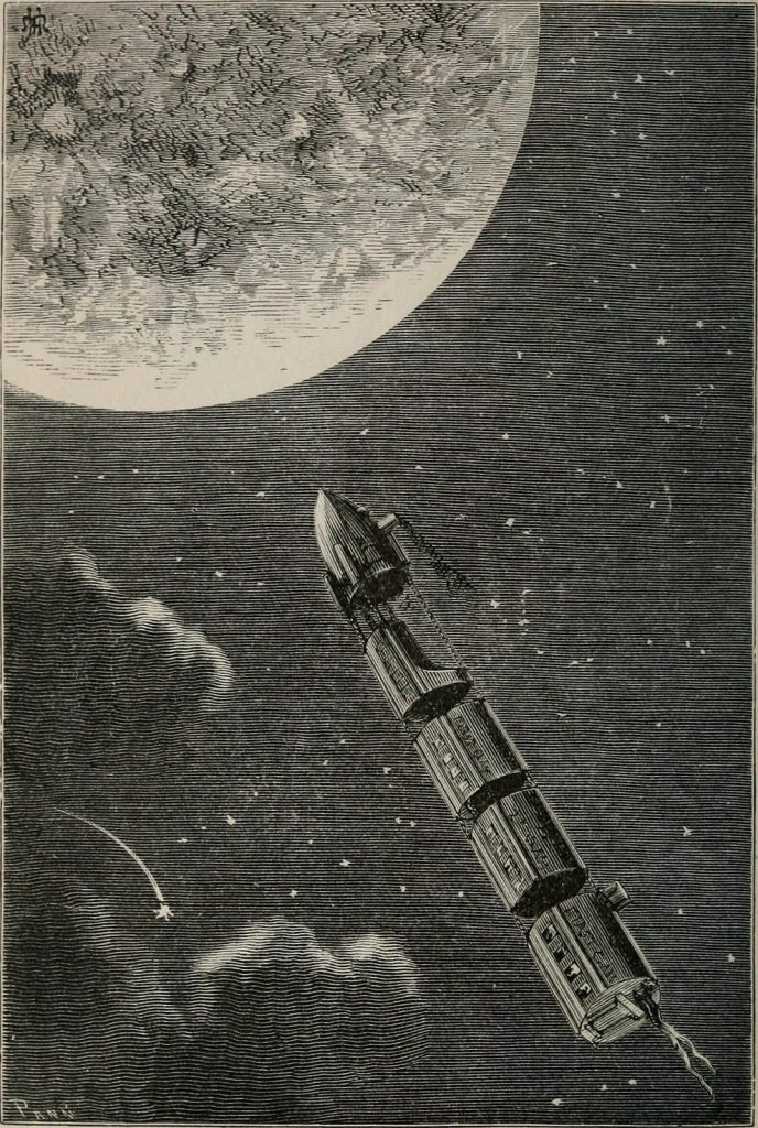 An illustration from the frontispiece to From the Earth to the Moon. (Photo: Internet Archive/Public Domain)