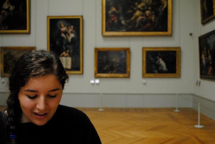 Carmen, on a post-undergraduate Grand Tour in Europe.