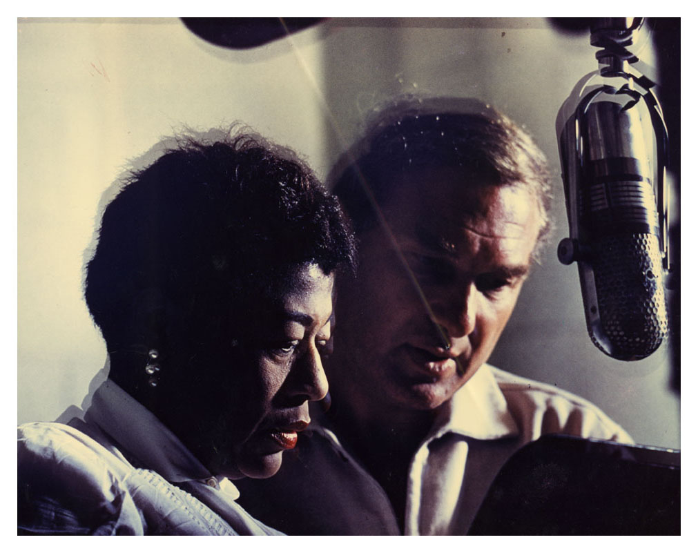 ella-fitzgerald-and-norman-granz-at-microphone-color-photoprint1