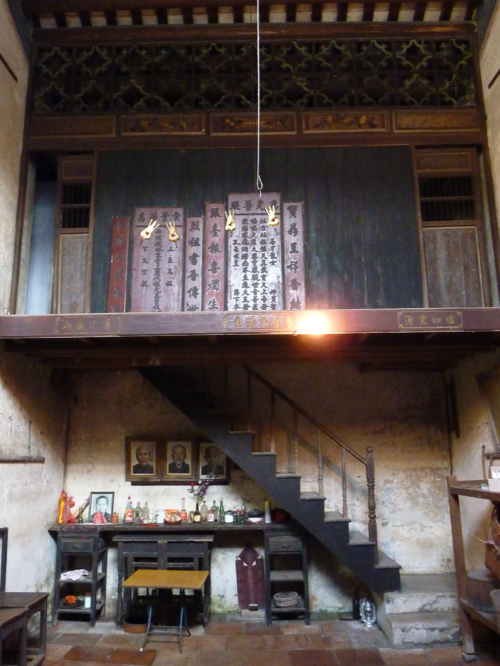 Lim family house interior showing the two-storey structure, Lum Ok Dei village, Toishan county, which Lim visited in 2009. IMOGENE LIM