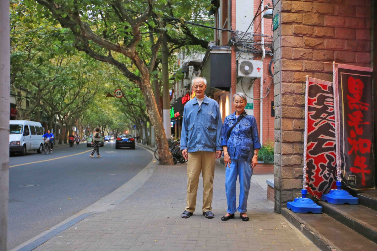 Hsi's grandparents visiting Shanghai from Albuquerque in 2016. ANDERS HSI