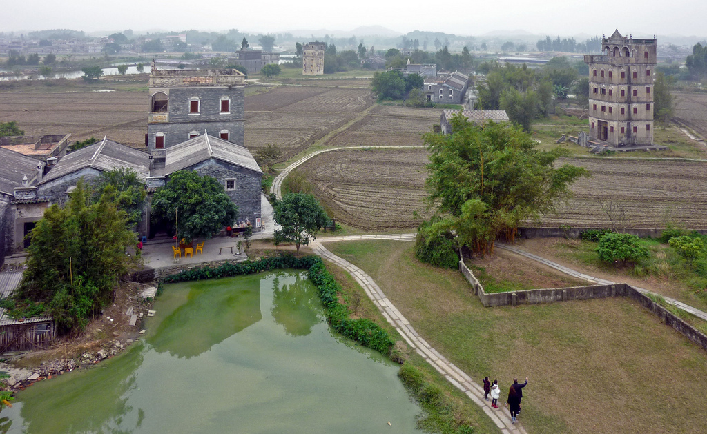 Watchtowers in Zili Village, near Kaiping, Guangdong Province, China. PAYTON CHUNG/CC BY 2.0