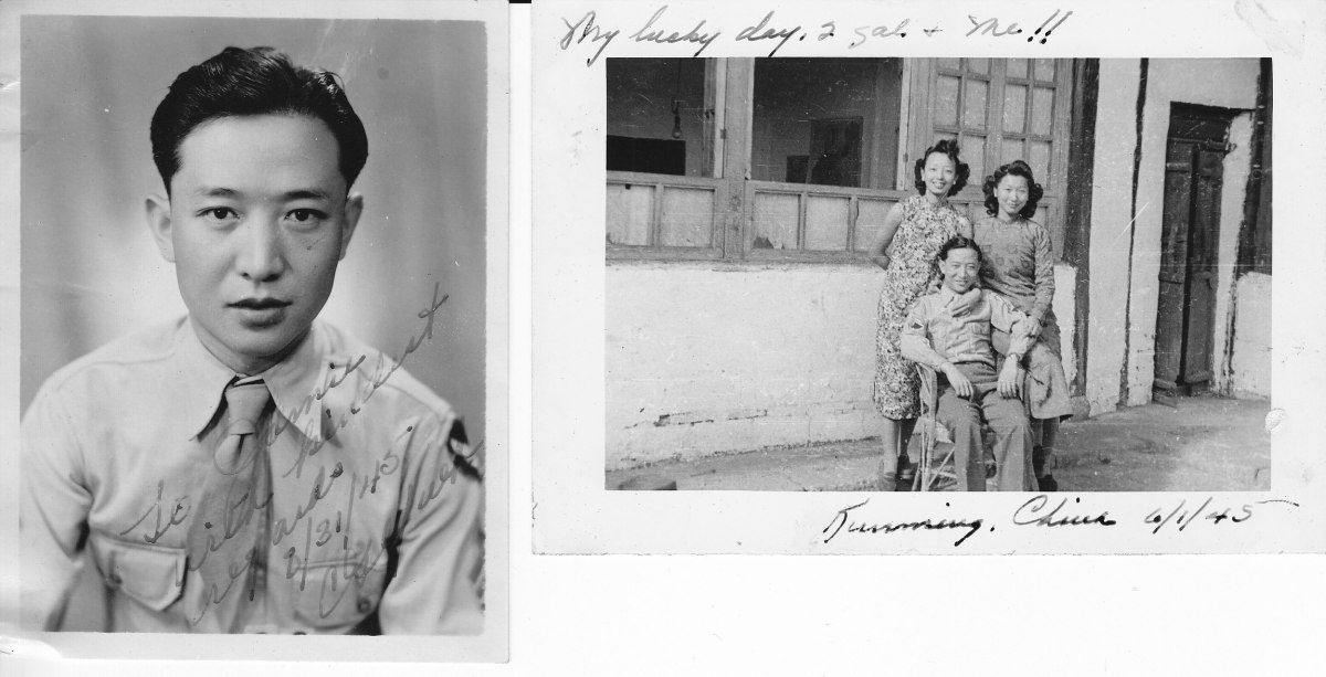 Lim's family: Howard Yueh, U.S. Army Corps, her Aunt Mary's husband-to-be. Howard with Mary (left) and Lillian (right) in Kunming, China, 1945. IMOGENE LIM