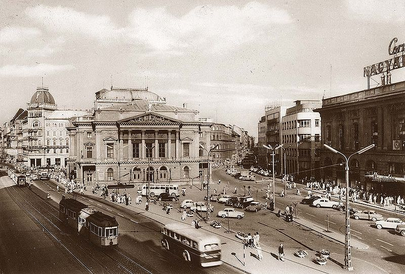 Photo of the now-demolished People's Theater in Budapest, Hungary, in 1963.