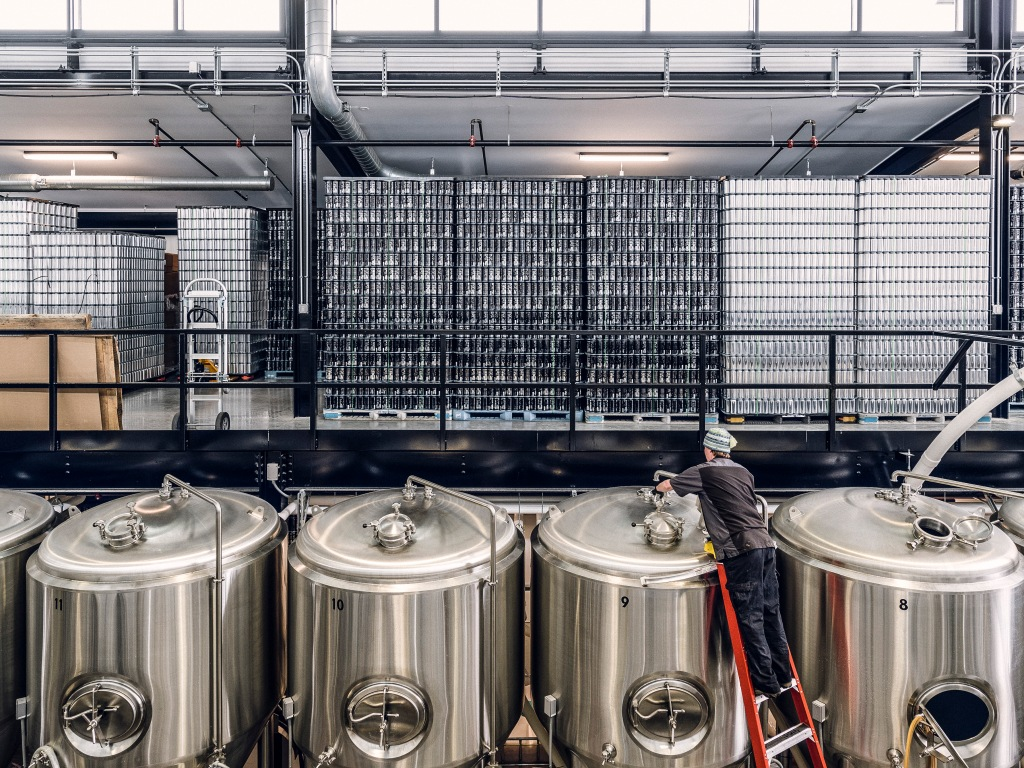 At its two breweries, the Alchemist employs 48 people including a full-time videographer, a chef and a wellness instructor. Photo: Corey Hendrickson