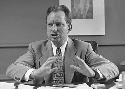 L. Ron Hubbard. Via Wikimedia Commons.