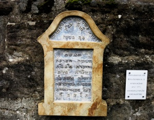 The rediscovered gravestone of a Jewish woman who died following childbirth