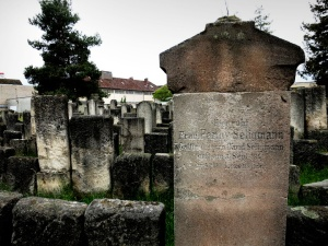 The gravestone of Fanny Seligmann, Peggy Guggenheim's great grandmother