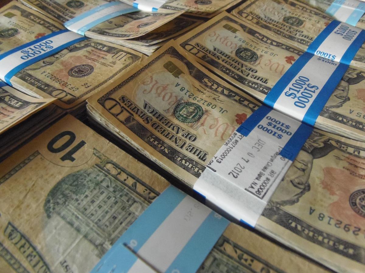 stacks of united states $10 bills
