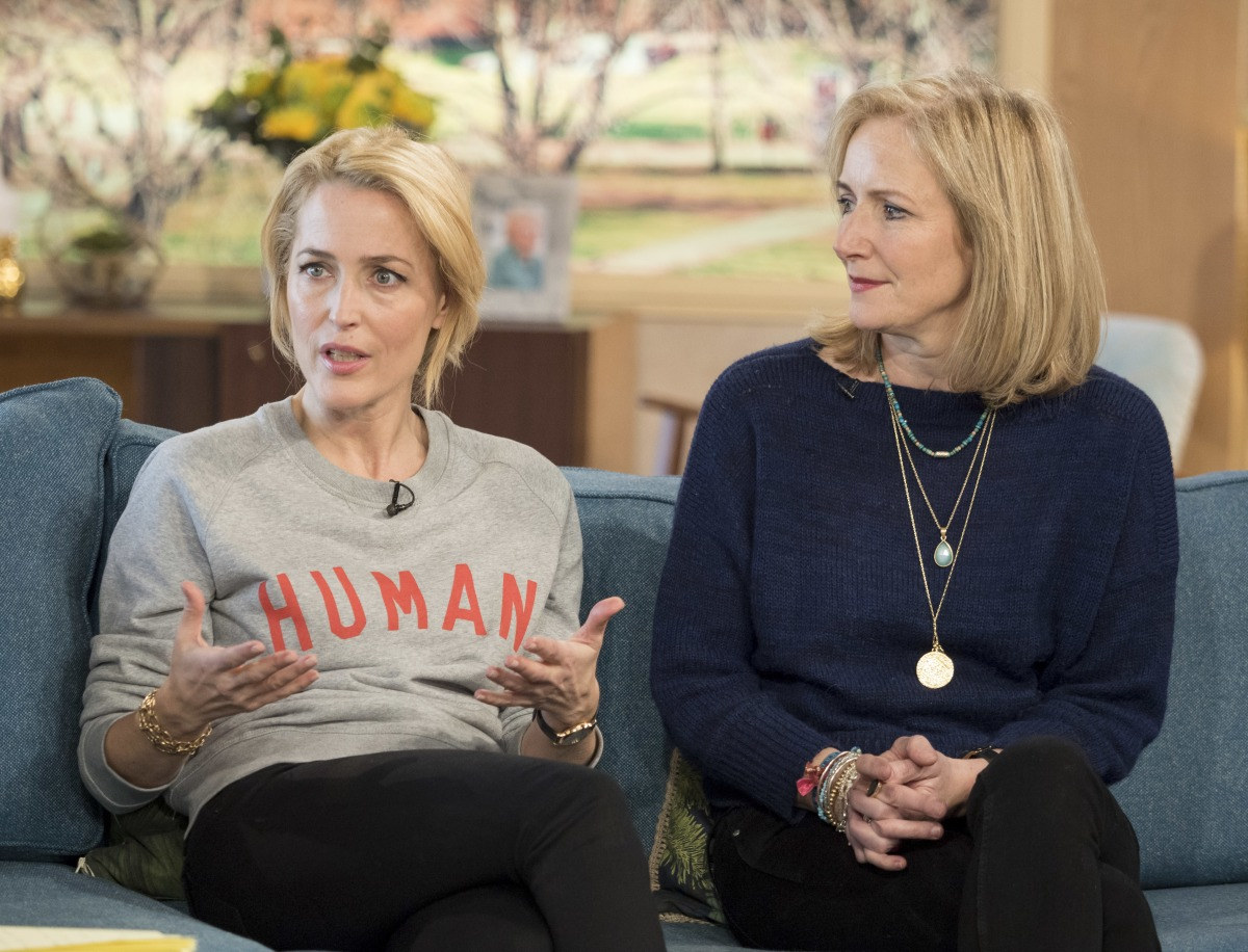 Gillian Anderson and Jennifer Nadel