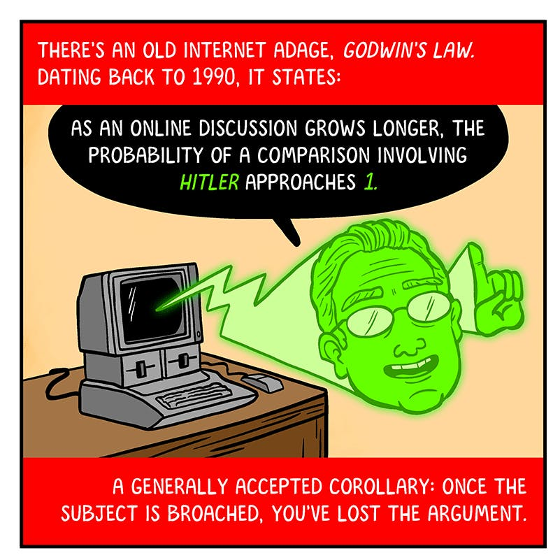 Godwin's Law by cartoonist Matt Lubchansky