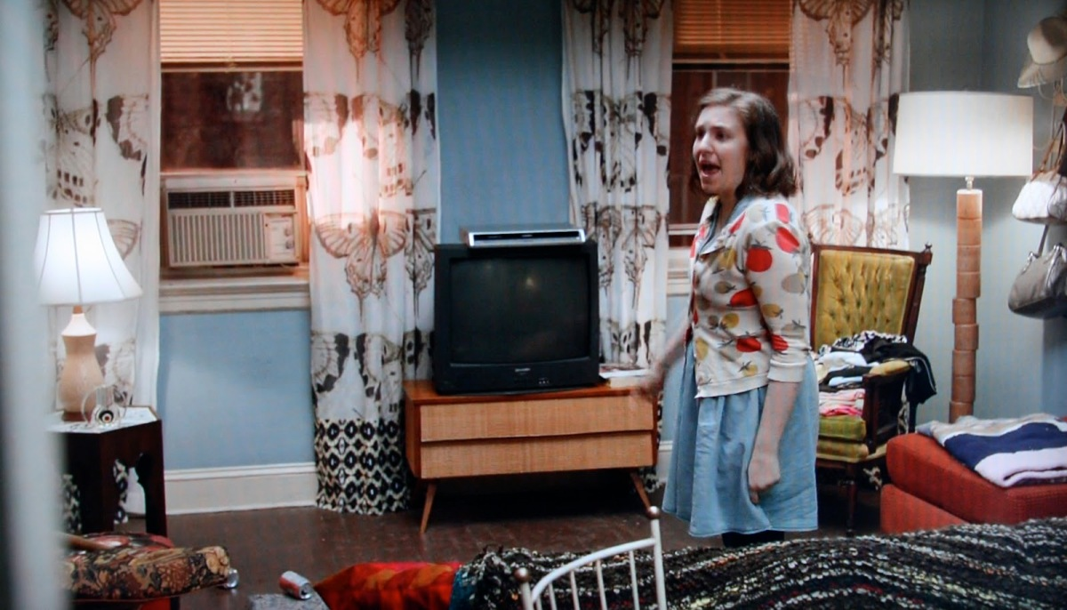 Lena Dunham on the set of Girls (HBO)