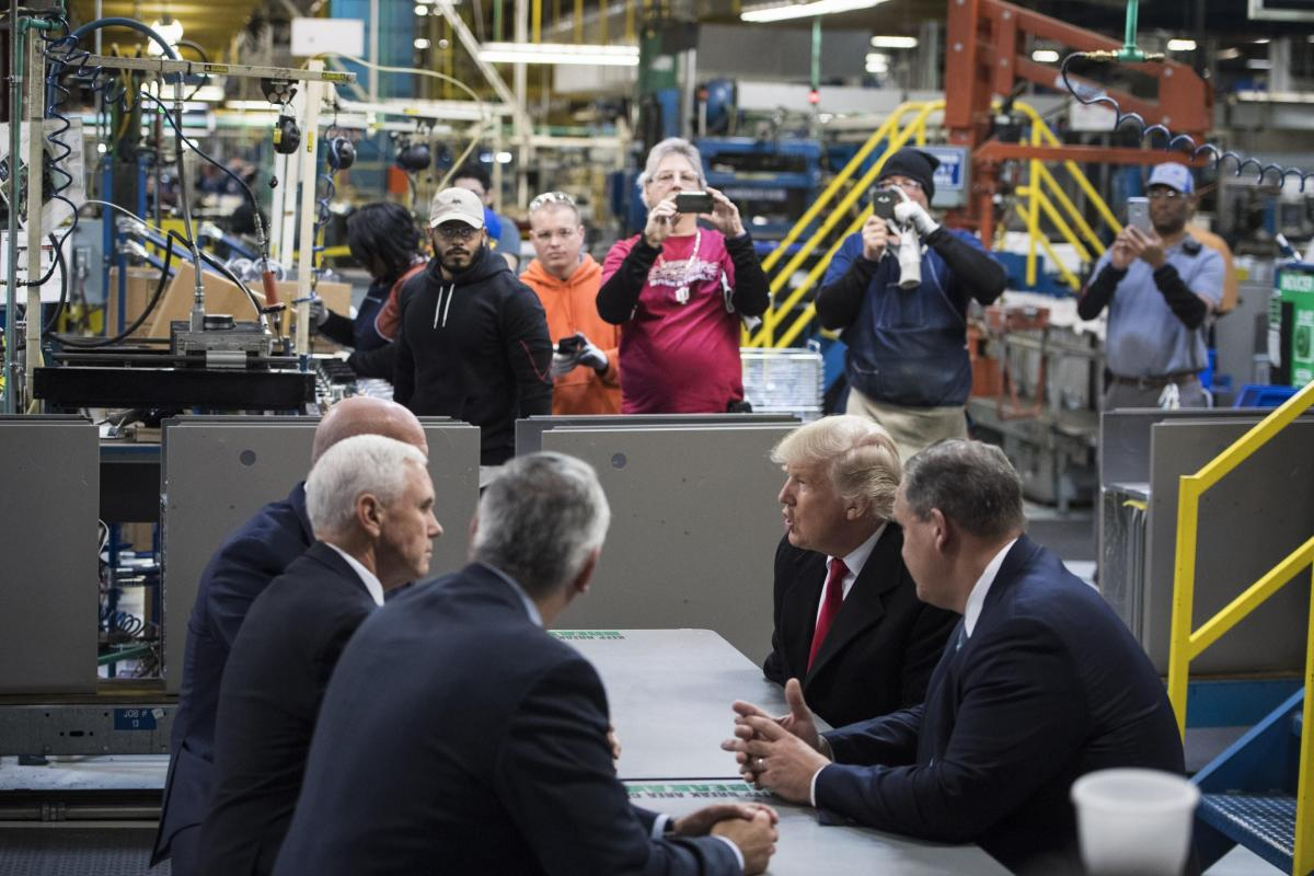 Trump in the factory
