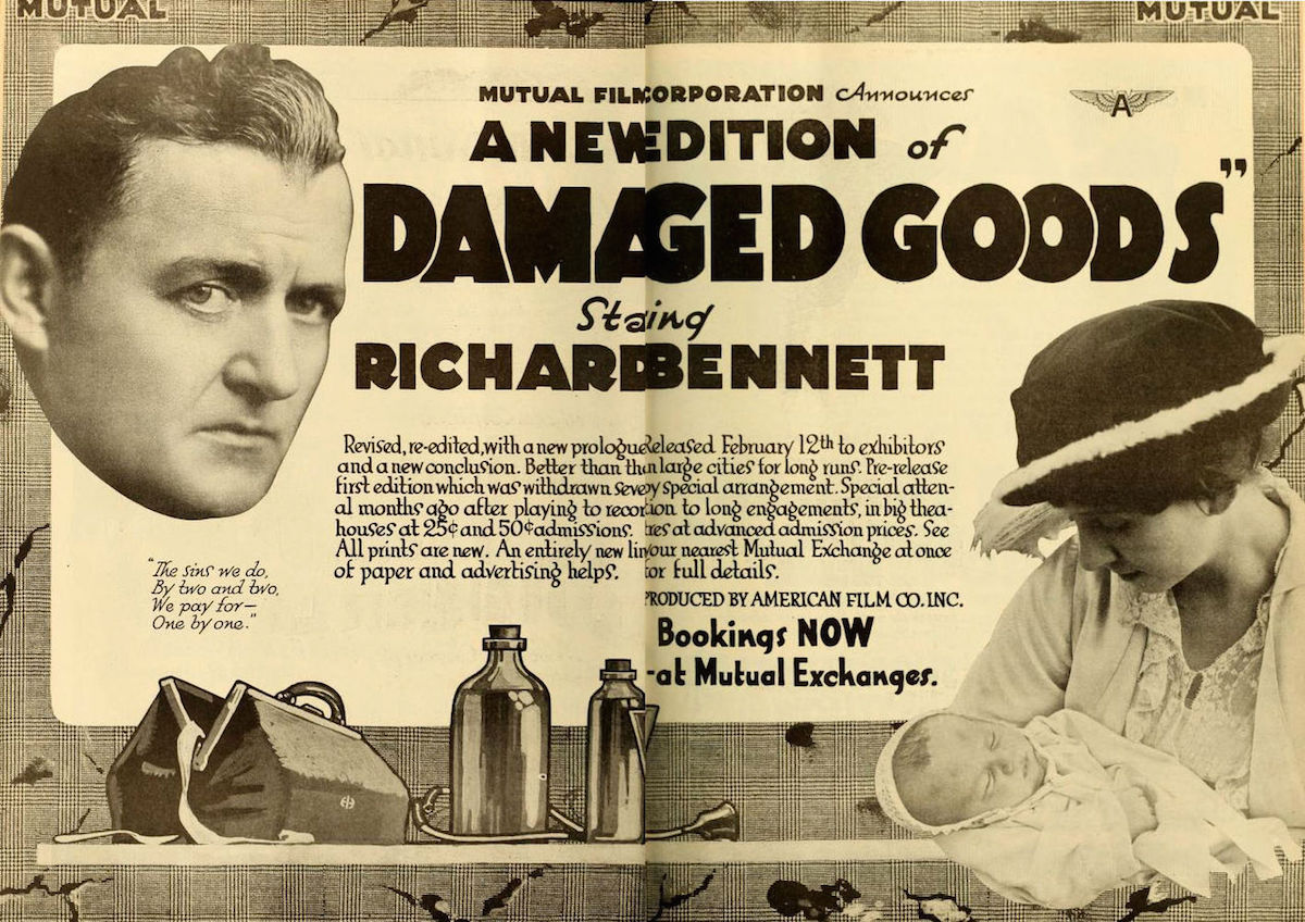 Advertisement for movie, Damaged Goods