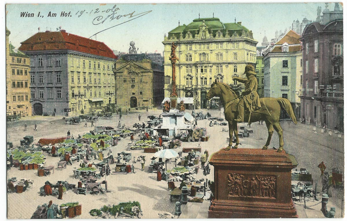 Postcard from Vienna, 1906 (Public Domain)