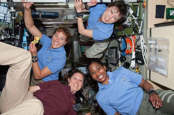 Four Women on the International Space Station, 2010