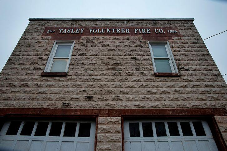 The volunteer fire department in Tasley, Virginia