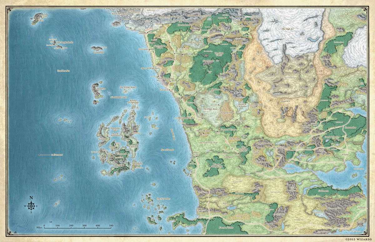 map of faerun