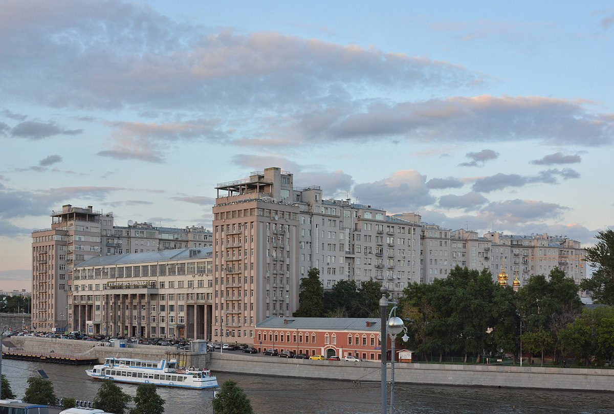 the house on the embankment, a massive apartment complex on the banks of the moscow river
