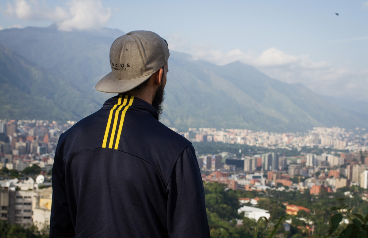 diego looking at Caracas landscape.