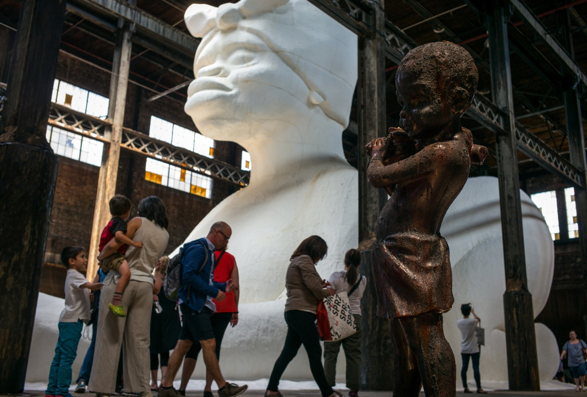 Kara Walker's Sugar Sculpture In Williamsburg, Brooklyn