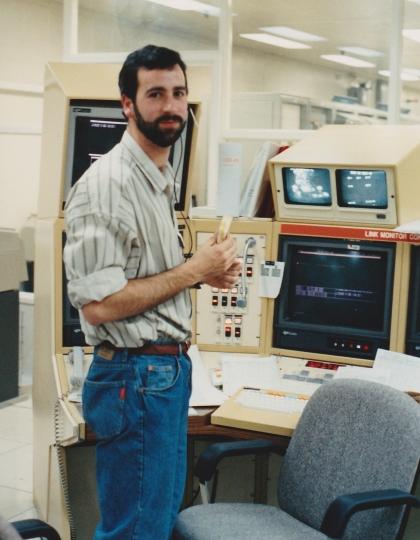 Richard Stephenson during the Neptune encounter, 1989.