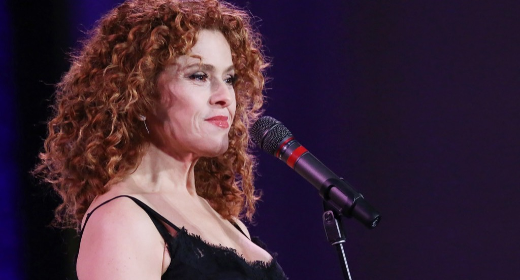 Bernadette Peters at microphone