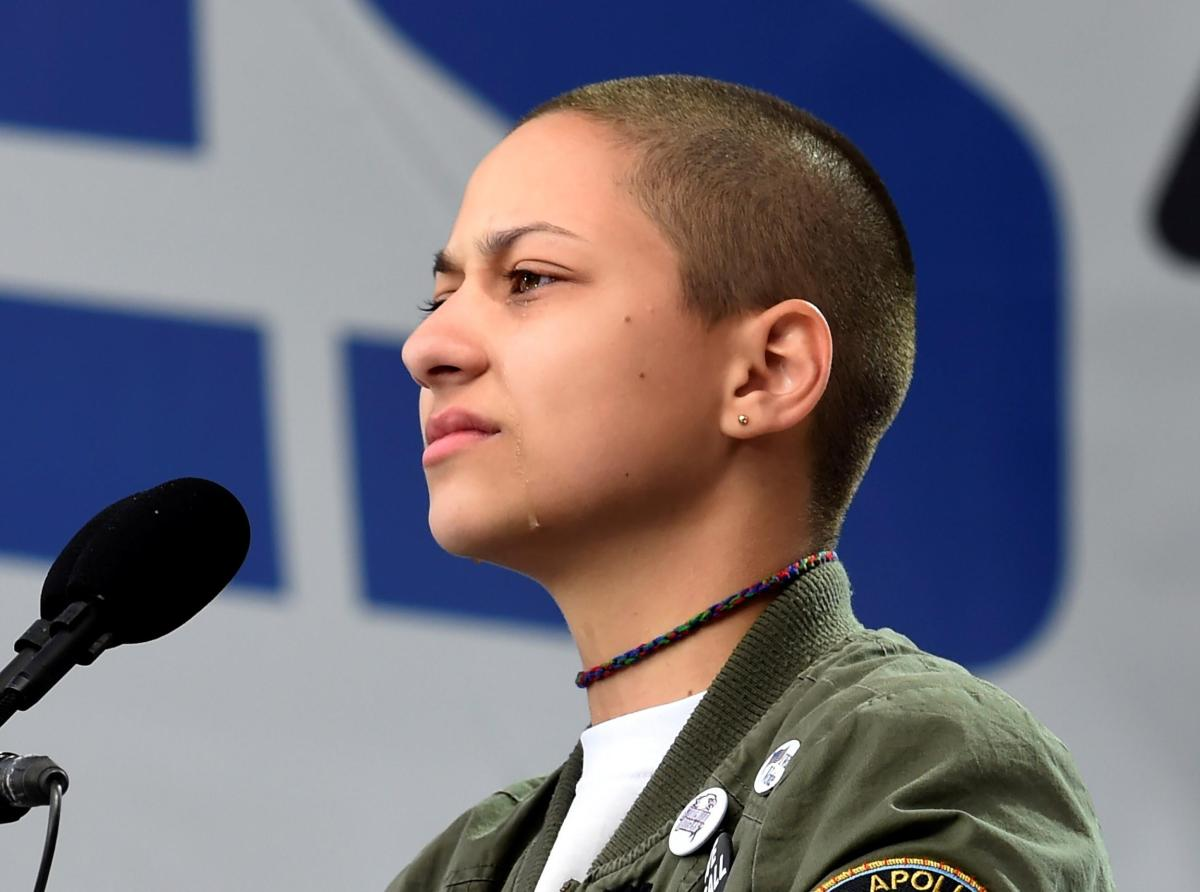 Emma González at the March for Our Lives