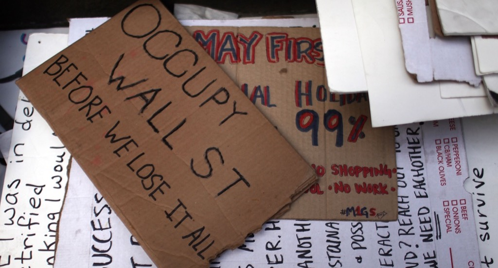 Occupy Wall Street protest posters