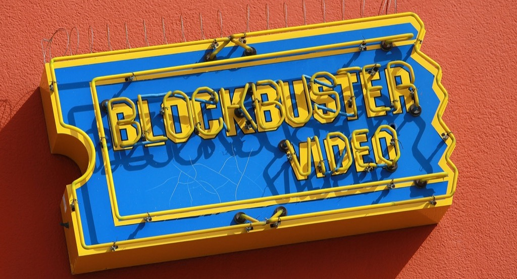 Blockbuster Video Store Sign