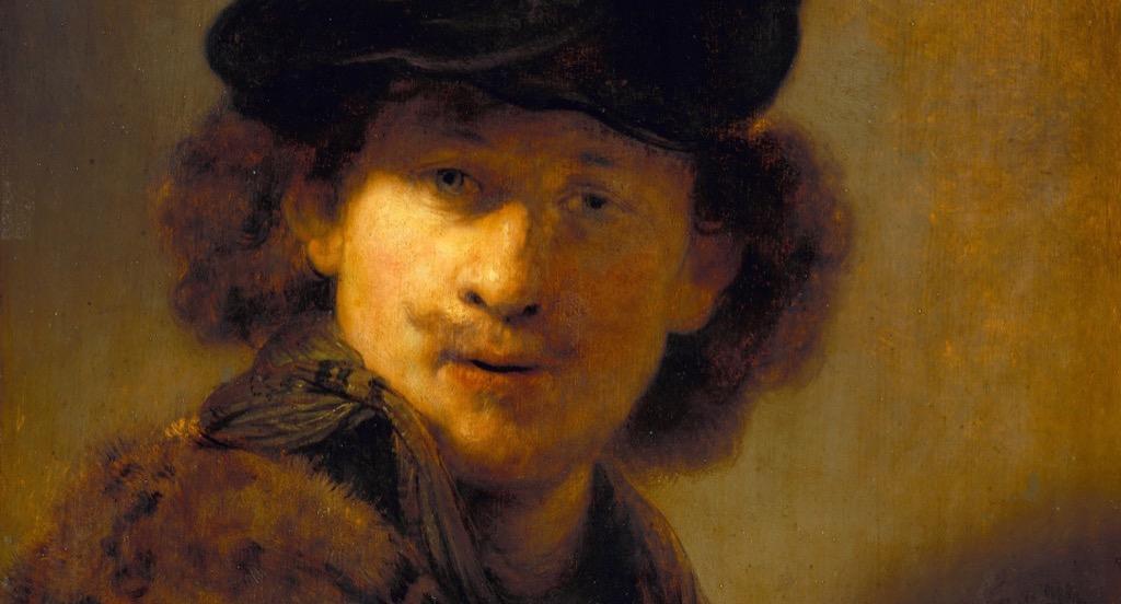 "Rembrandt's ""Self-Portrait with Velvet Beret, 1634."""