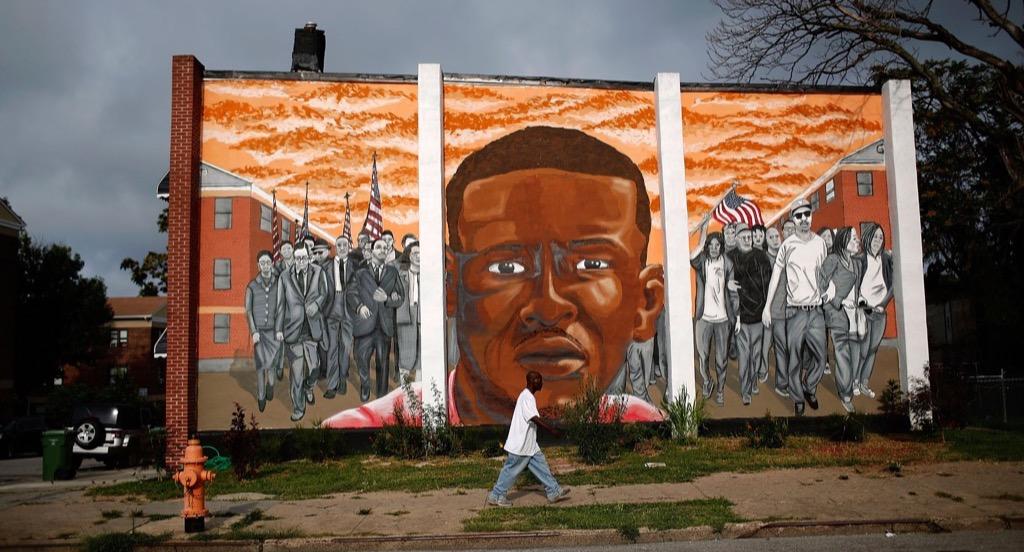 Freddie Gray mural, Baltimore, Maryland