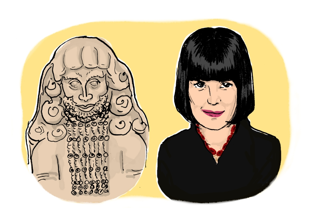 Gilgamesh (or the tablets containing the story in cuneiform) and Eve Ensler.